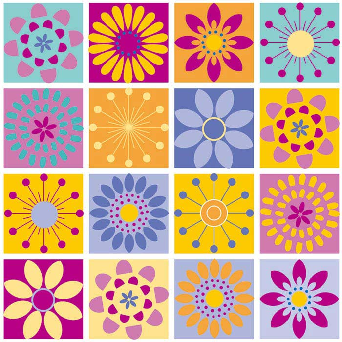 Fototapeta DIMEX Colourful Flowers 2 L-370| 220 x 220 cm