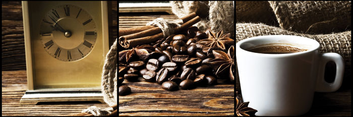 Fototapeta DIMEX Coffee Collage M-222| 330 x 110 cm