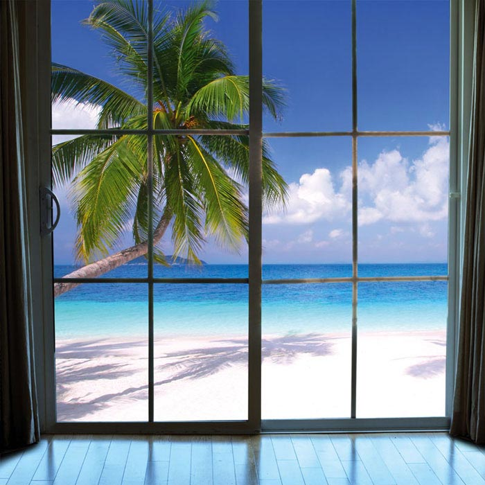 Fototapeta DIMEX Beach Window View L-458| 220 x 220 cm