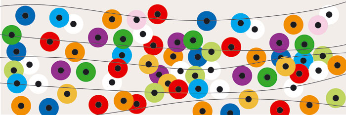 Fototapeta DIMEX Colourful Circles M-342| 330 x 110 cm
