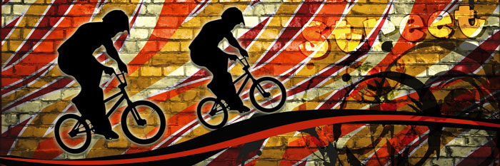 Fototapeta DIMEX Bicycle Red M-387| 330 x 110 cm