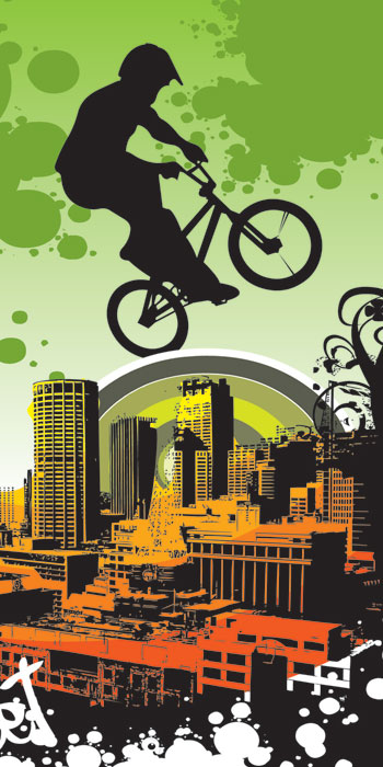 Fototapeta DIMEX Bicycle Green S-212| 110 x 220 cm