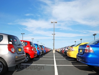 Fototapeta AG Design Car Park FT 1416| 360 x 270 cm
