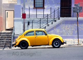 Fototapeta AG Design Yellow Car FT 1417| 360 x 270 cm