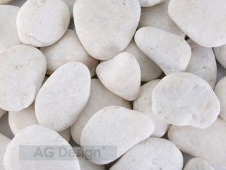 Fototapeta AG Design White Pebbles FT 1424| 360 x 270 cm