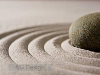 Fototapeta AG Design Stone in Sand FT 1425| 360 x 270 cm