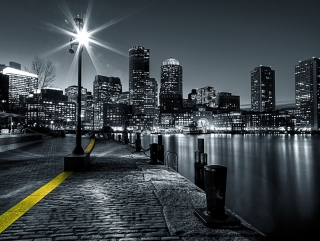 Fototapeta AG Design Nighttime City FT 1428| 360 x 270 cm