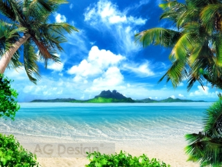 Fototapeta AG Design Tropical Beach FT 1430| 360 x 270 cm