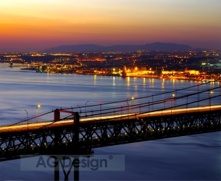 Fototapeta AG Design Bridge FTN 1136| 330 x 270 cm