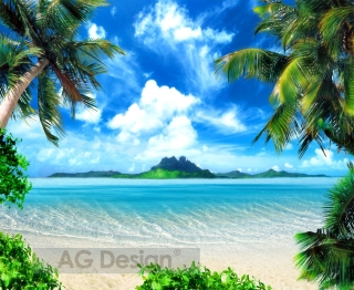 Fototapeta AG Design Tropical Beach FTN 1141| 330 x 270 cm