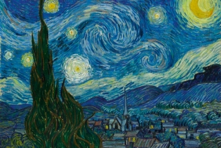 Fototapeta DIMEX Starry Night XL-495| 330 x 220 cm