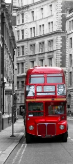 AG Design vliesová fototapeta FTN V 2898 London Bus 90 x 202 cm