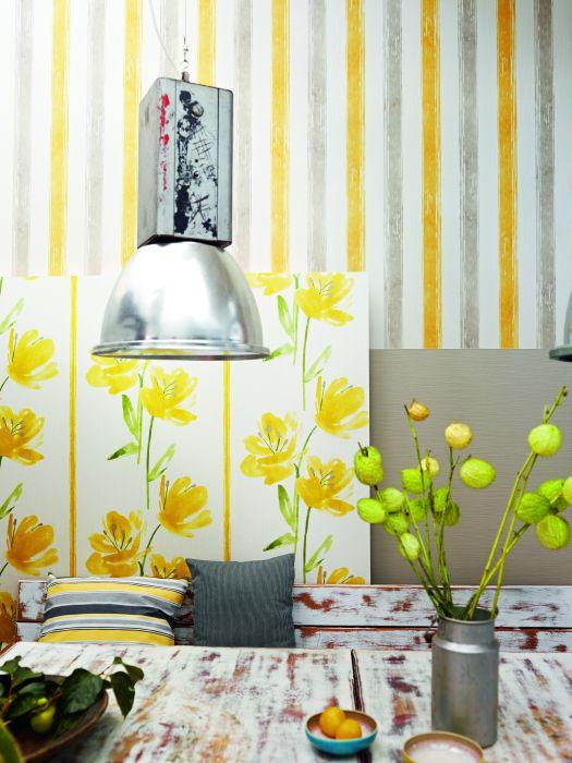 Moderní žluté tapety